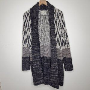 Lucky Brand Open Front Longline Cardigan Sweater
